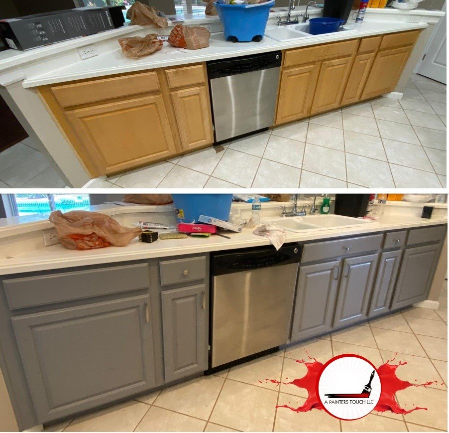 Gray and White Kitchen Cabinets in Kissimmee, FL