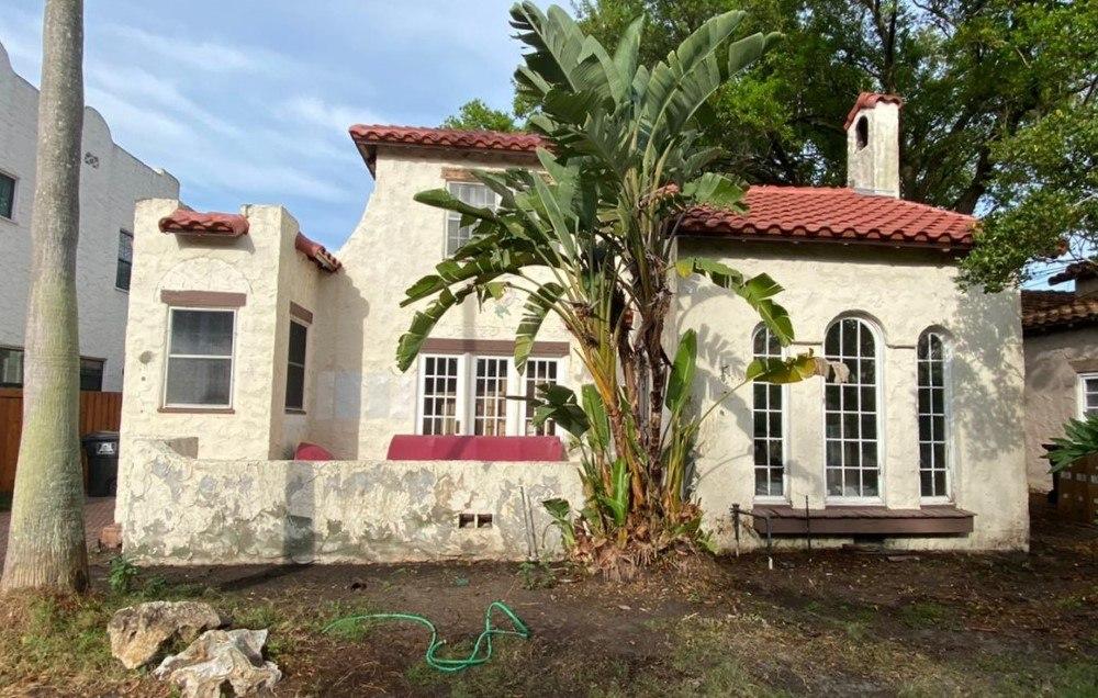Historic Spanish Colonial Stucco Exterior in Orlando, FL