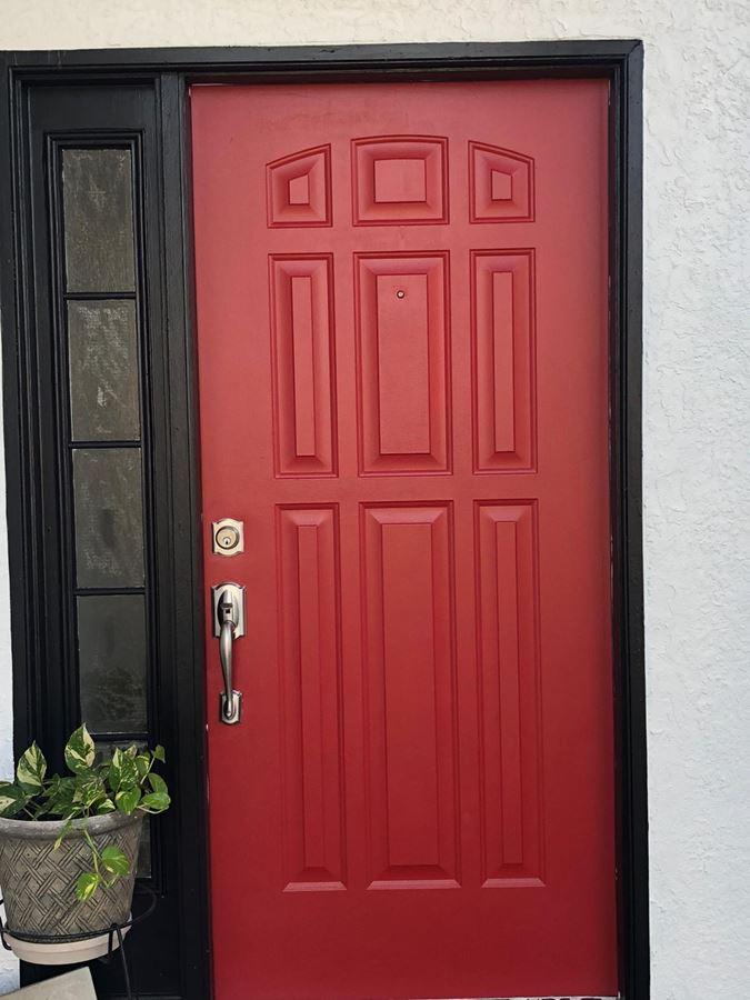 Front Door Painting Project In Orlando, FL