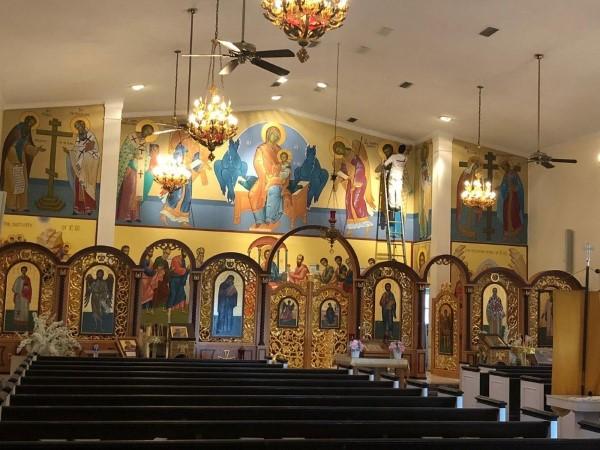 Painting St. Nicholas Catholic Church in Orlando, FL